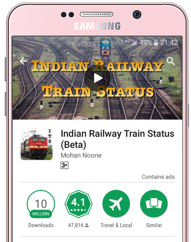 Indian Train Apps